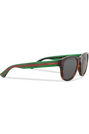 Gucci Miehet Aurinkolasit - GG0003S Sunglasses Havana/Grey/Green