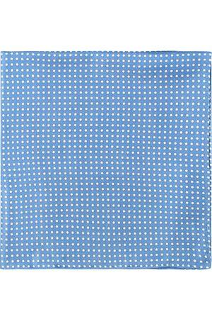 Amanda Christensen Miehet Taskuliinat - Handkerchief Dot Silk Sky Blue
