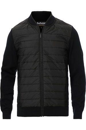 Barbour Baffle Zip Through Sweater Black