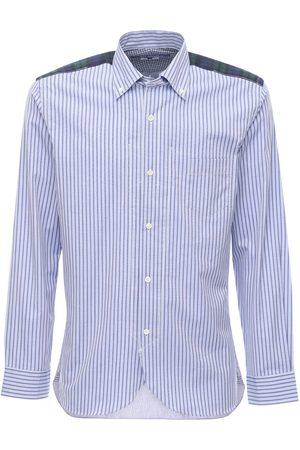 JUNYA WATANABE Striped Cotton Poplin Shirt W/back Check