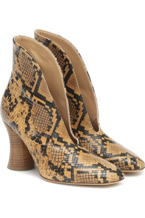 PETAR PETROV Snake-effect leather pumps