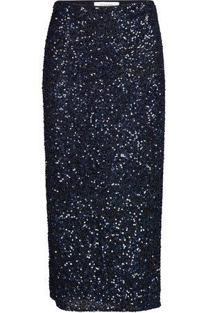 Andiata Siralie Long Sequin Skirt Polvipituinen Hame