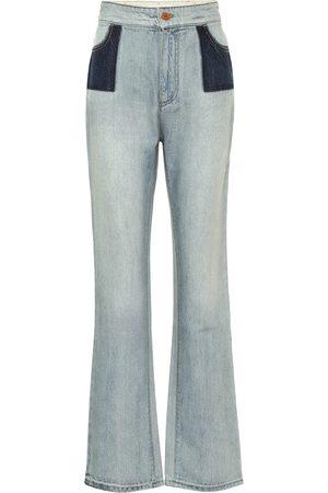 Serafini High-rise flared jeans