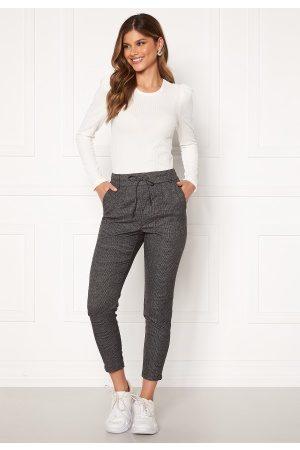 Only Poptrash Soft Check Pant Black/Cloud Dancer XL/32