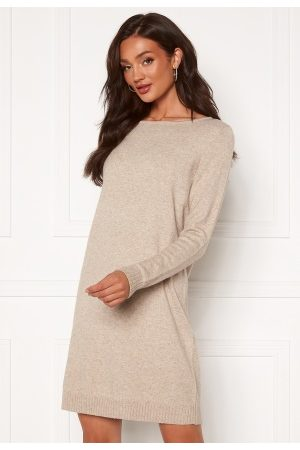 Vila Ril L/S Knit Dress Natural Melange XS