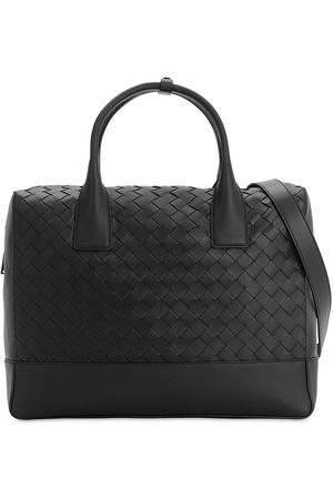 Bottega Veneta New Intrecciato Leather Briefcase Bag