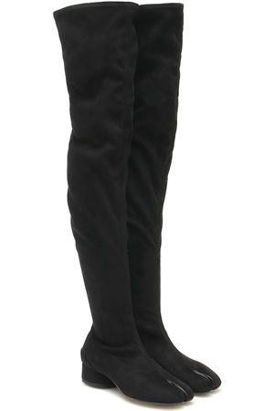 Maison Margiela Tabi suede over-the-knee boots