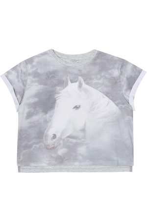 Stella McCartney Tytöt T-paidat - Printed stretch-cotton T-shirt