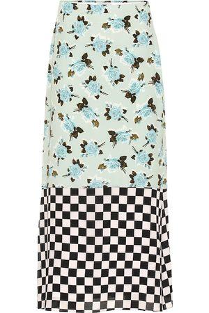 Erdem Vaughan printed crêpe midi skirt
