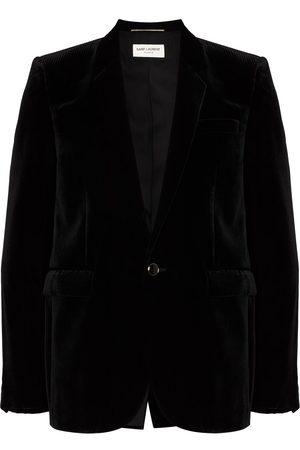 Saint Laurent Single-breasted velvet blazer
