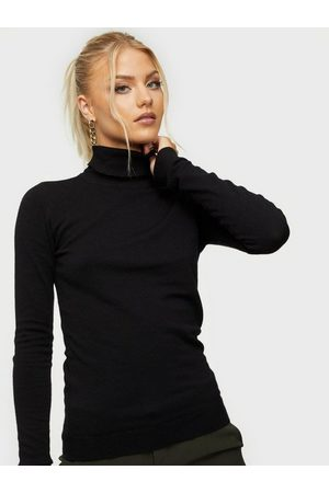Object Collectors Item Naiset Poolopaidat - Objthess L/S Rollneck Knit Pullover Black