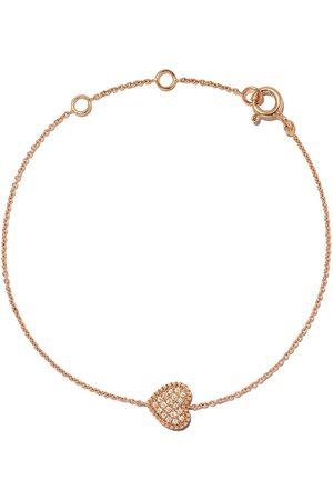 AS29 Naiset Rannekorut - 18kt rose Mye heart beading pave diamond bracelet