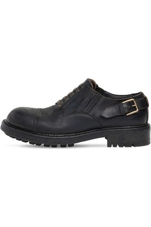 Dolce & Gabbana Miehet Loaferit - 40mm Matte Leather Lace-up Shoes