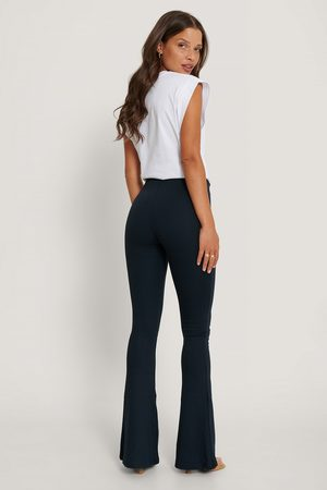 Trendyol Flared Trousers - Navy