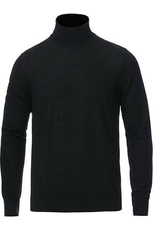 Samsøe Samsøe Miehet Poolopaidat - Flemming Superfine Merino Wool Roll Neck Black