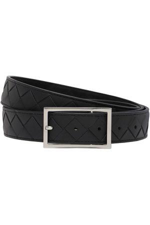 Bottega Veneta 3cm Intrecciato Leather Belt