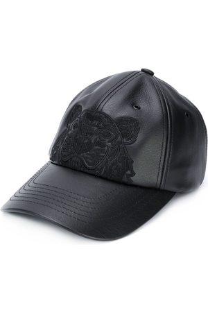 Kenzo Miehet Hatut - Tiger motif leather cap