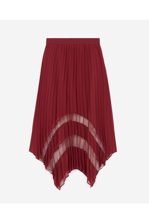 The Kooples Burgundy long pleated skirt