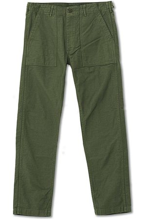 ORSLOW Miehet Chinot - Slim Fit Original Sateen Fatigue Pants Army Green