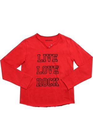 Zadig & Voltaire Flocked Cotton Jersey T-shirt