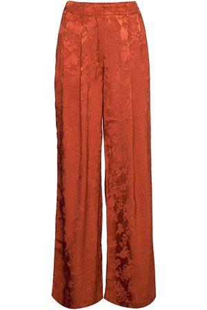 Black Halo Naiset Leveälahkeiset - Ruska Wide Pleat Pants Leveälahkeiset Housut Oranssi