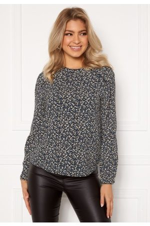 Only New Mallory L/S Blouse Night Sky/A.D Flower 36