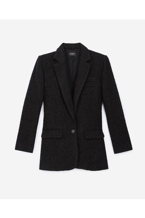 The Kooples Naiset Bleiserit - Buttoned black tweed blazer