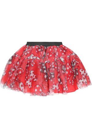MONNALISA Printed tulle skirt