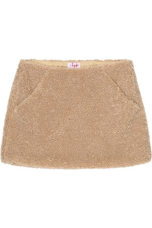 Il gufo Faux shearling skirt