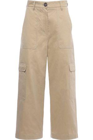 Max Mara Naiset Reisitaskuhousut - Waterproof Cotton Twill Cargo Pants