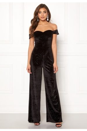 Moments New York Inda Velvet Jumpsuit Black 36