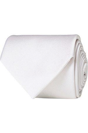 Amanda Christensen Plain Classic Tie 8 cm White