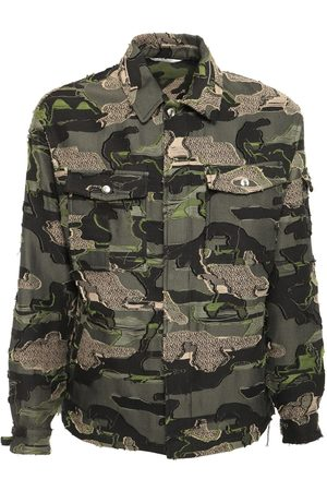 VALENTINO Camo Jacquard Cotton Jacket