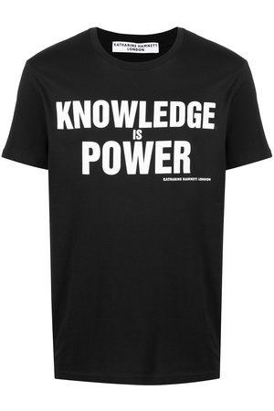 KATHARINE HAMNETT LONDON Slogan print organic cotton T-shirt