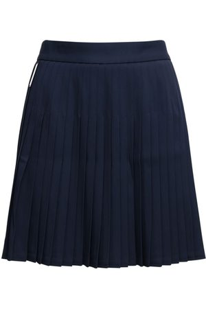 Peter Do Pleated Viscose Mini Skirt