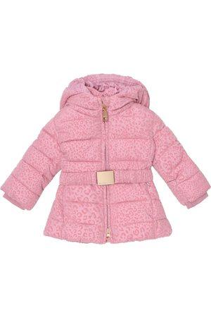 MONNALISA Leopard print puffer coat