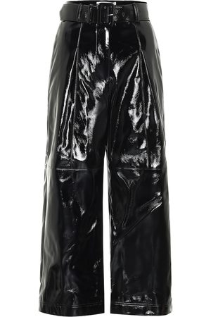 Self-Portrait High-rise faux patent-leather pants