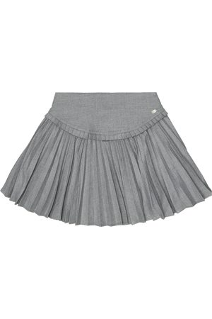 Tartine Et Chocolat Pleated flannel skirt