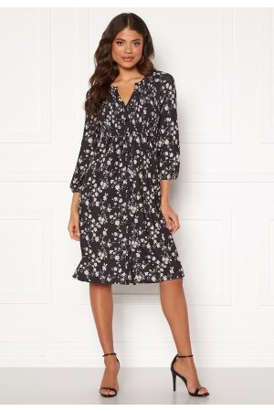 Happy Holly Alessi smock dress Black / Patterned 40/42