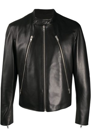 Maison Margiela Miehet Nahkatakit - Mock neck leather jacket