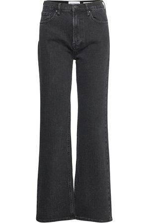 Tomorrow Brown Straight Jeans Original Black Leveälahkeiset Farkut