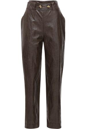 REJINA PYO Astrid Faux Leather Straight Pants