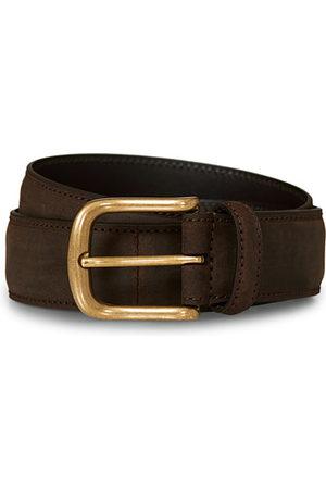 Crockett & Jones Miehet Vyöt - 3,5 cm Belt Dk Brown Rough-Out Suede