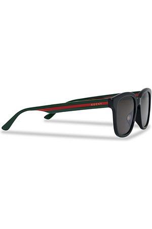Gucci Miehet Aurinkolasit - GG0847SK Sunglasses Black/Green