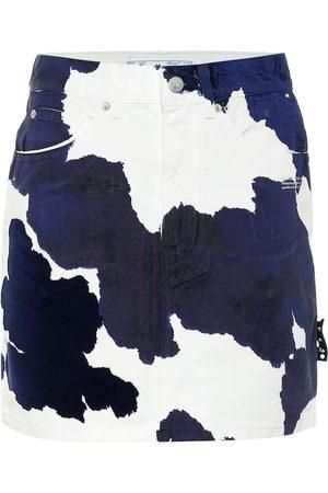 OFF-WHITE Naiset Printtihameet - Printed denim miniskirt