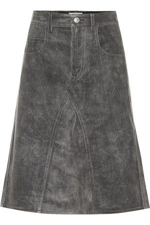 Isabel Marant Fiali leather midi skirt