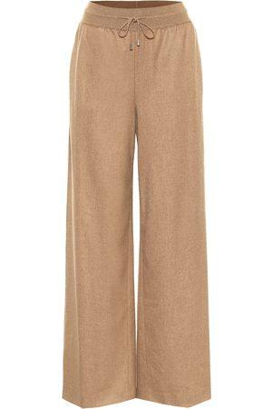 Loro Piana Kevan cashmere and silk wide-leg pants