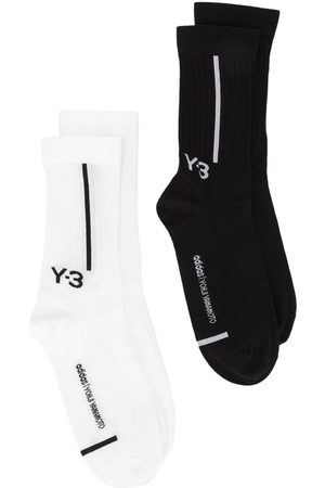 Y-3 Logo-intarsia two pack socks