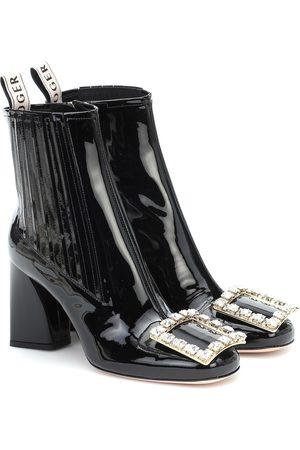 Roger Vivier Très Vivier Strass patent leather ankle boots