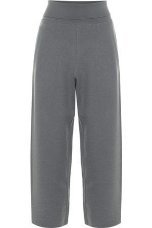 Stella McCartney Virgin wool wide-leg cropped pants